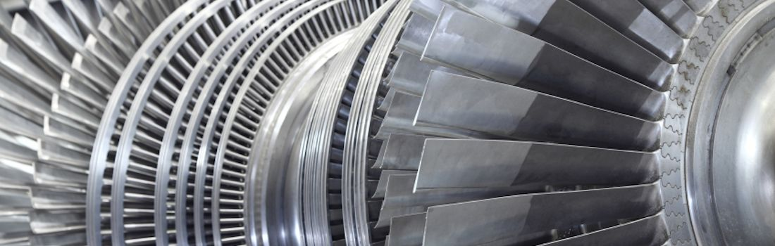 Internal rotor of a steam Turbine at workshop